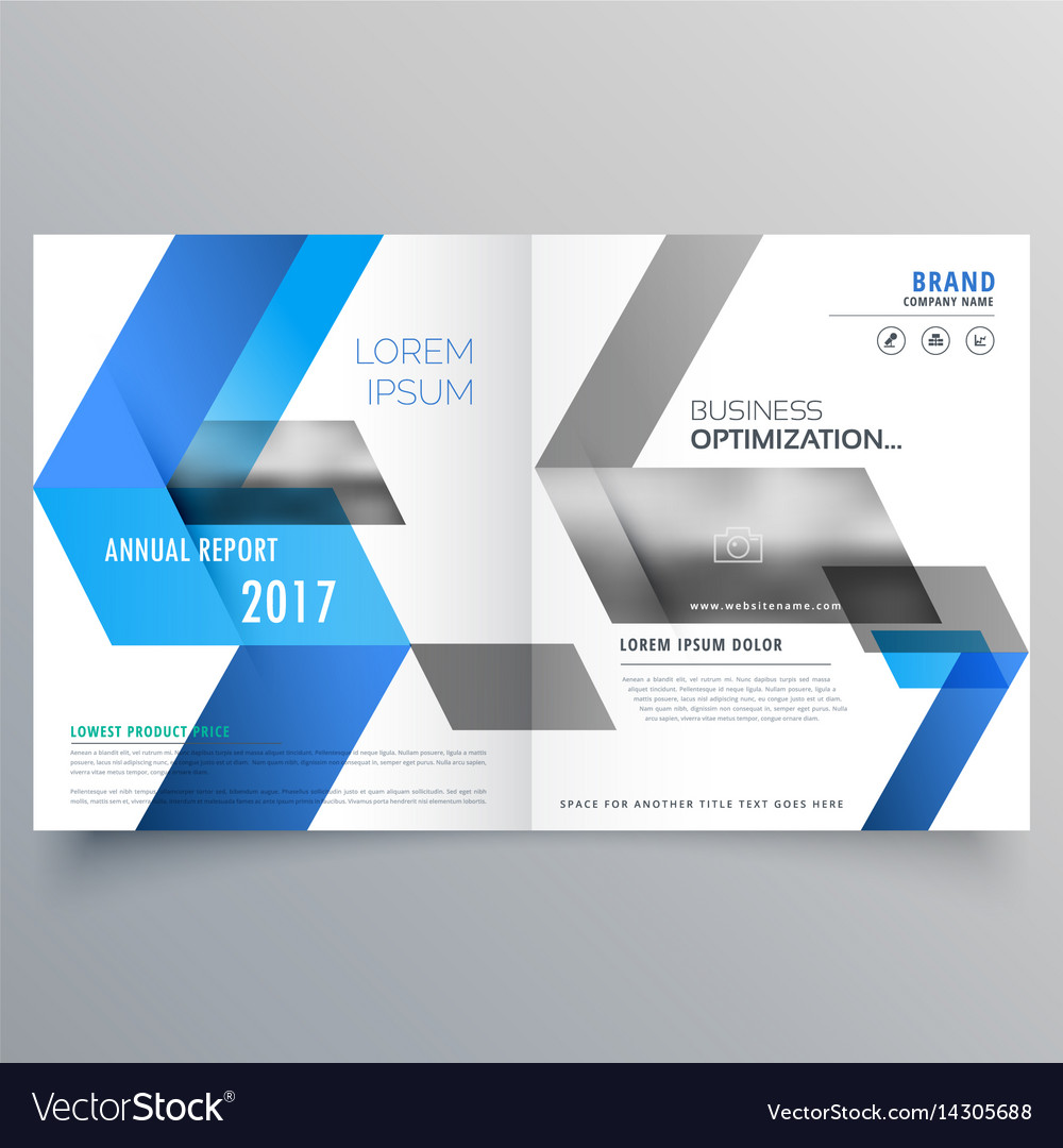Modern booklet cover page design template with vector image for Employee handbook cover design template