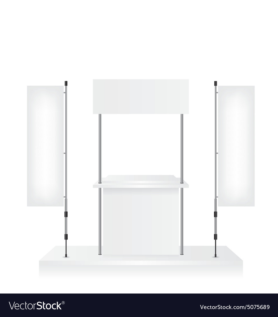 promotion counter and blank flag royalty free vector image