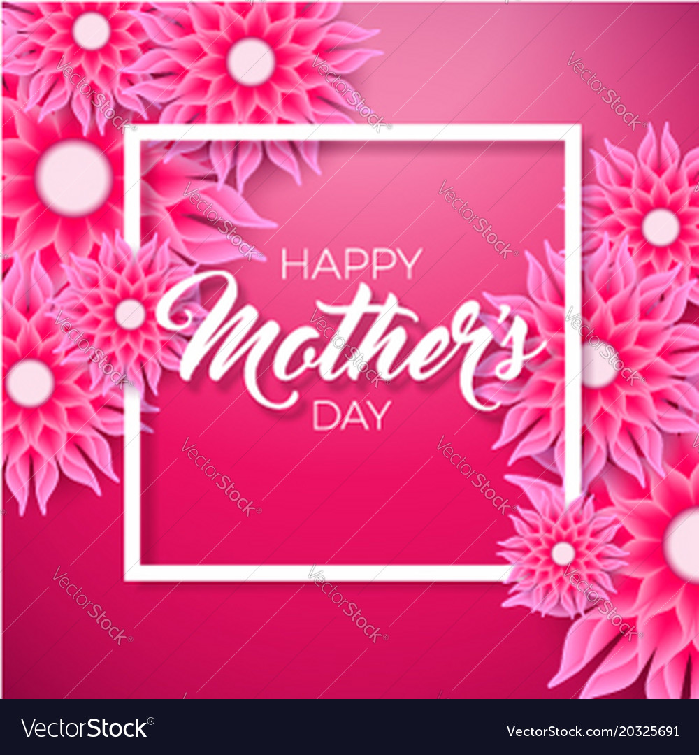 Happy mothers day greeting card with flower on vector image happy mothers day greeting card with flower on vector image kristyandbryce Image collections
