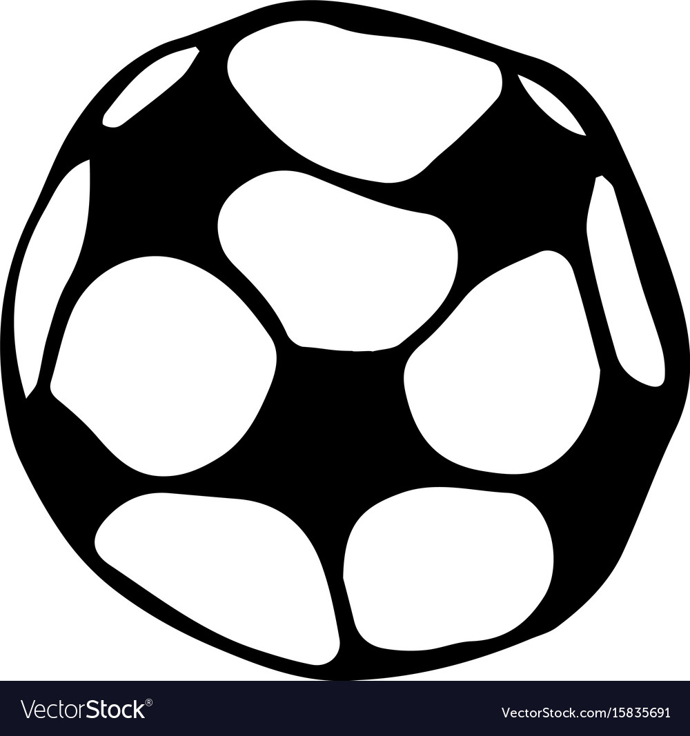 Soccer ball football doodle style sketch hand vector image