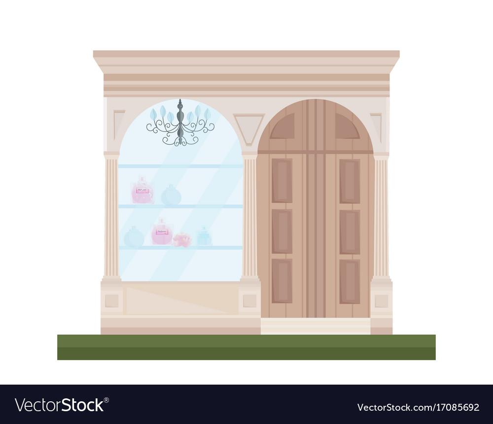 Facade shop flat style vector image