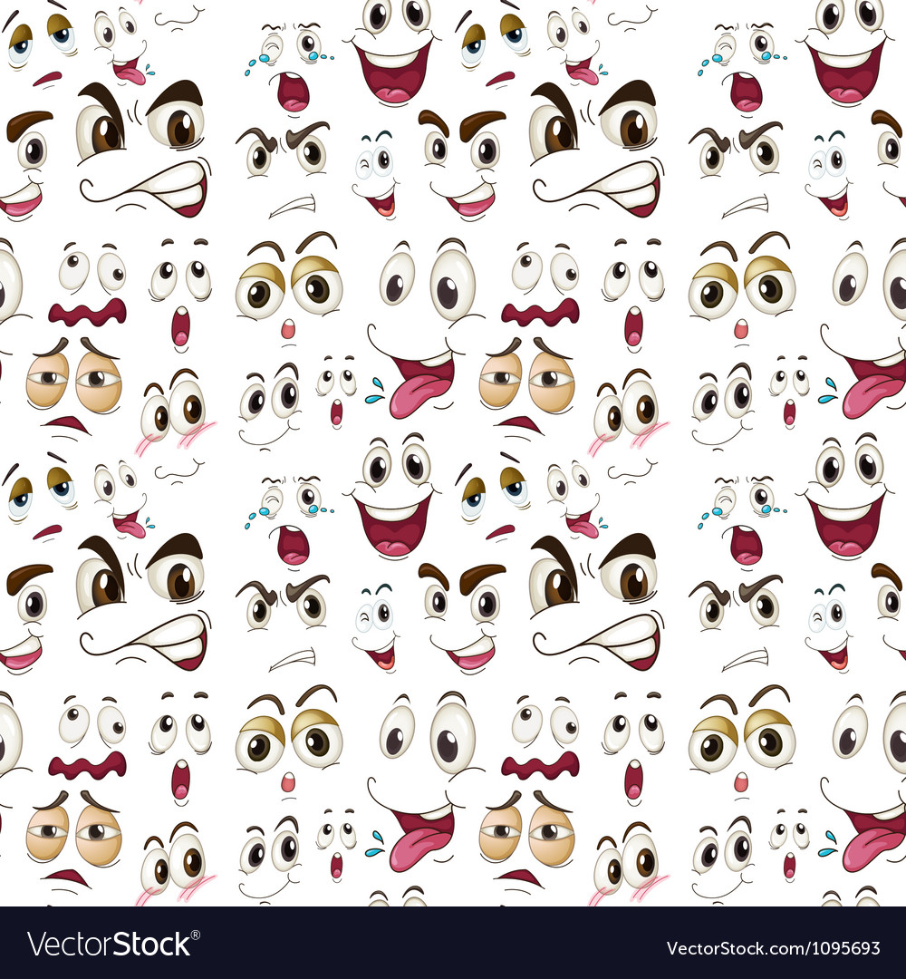 Face expressions vector image