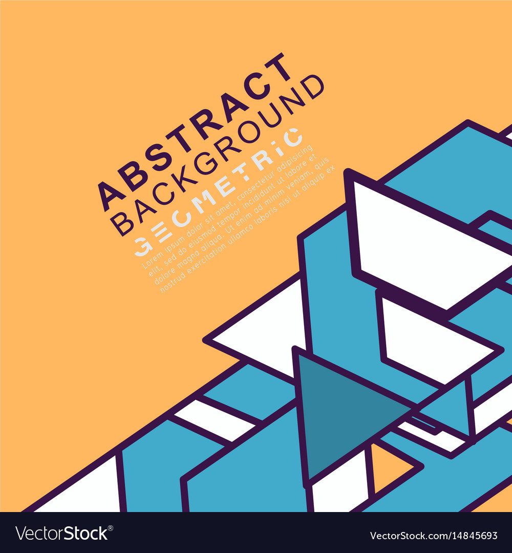 Abstract geometric concept background with space vector image
