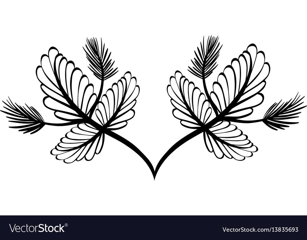 Rustic branche plant design vector image