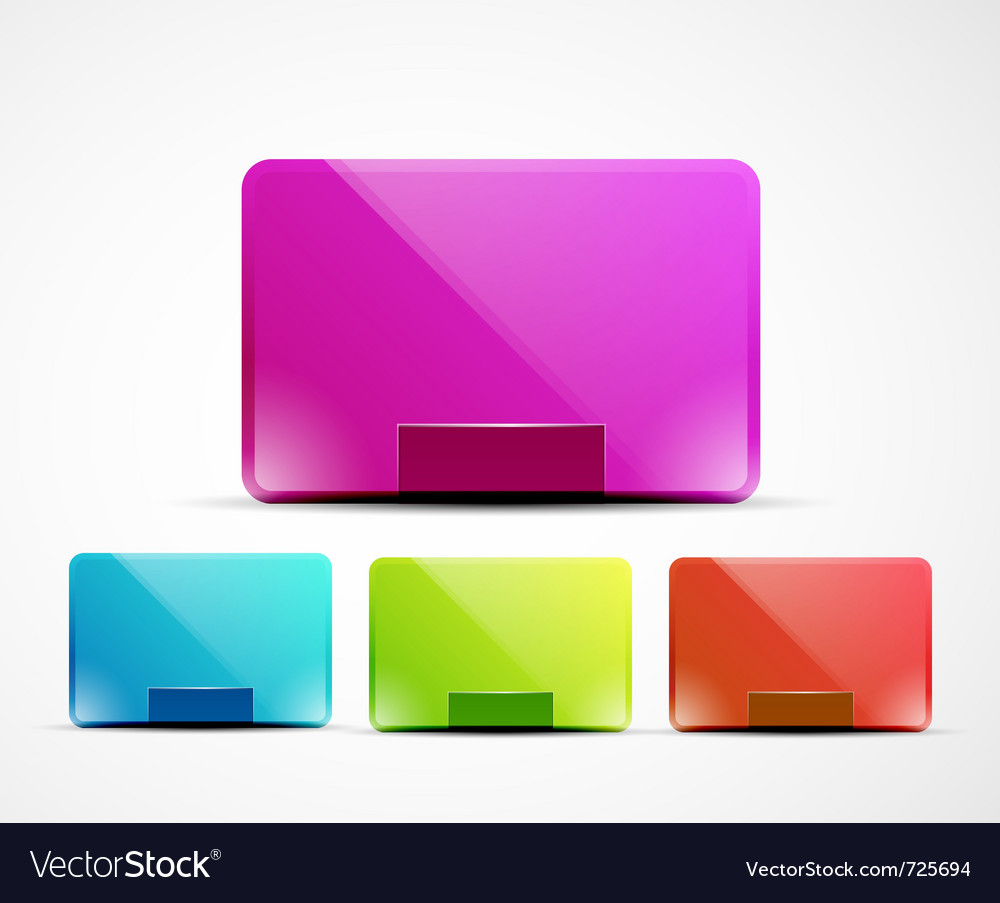 Clean web boxes vector image