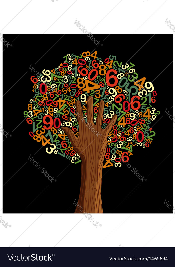 School education concept tree hand vector image