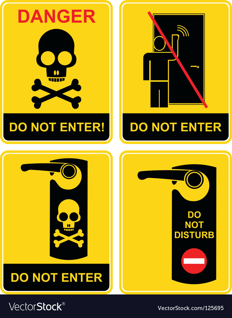 Do not enter sign vector image