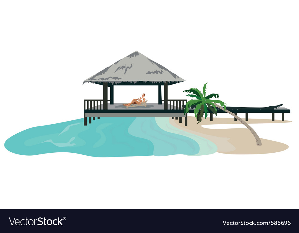 Beach resort vector image