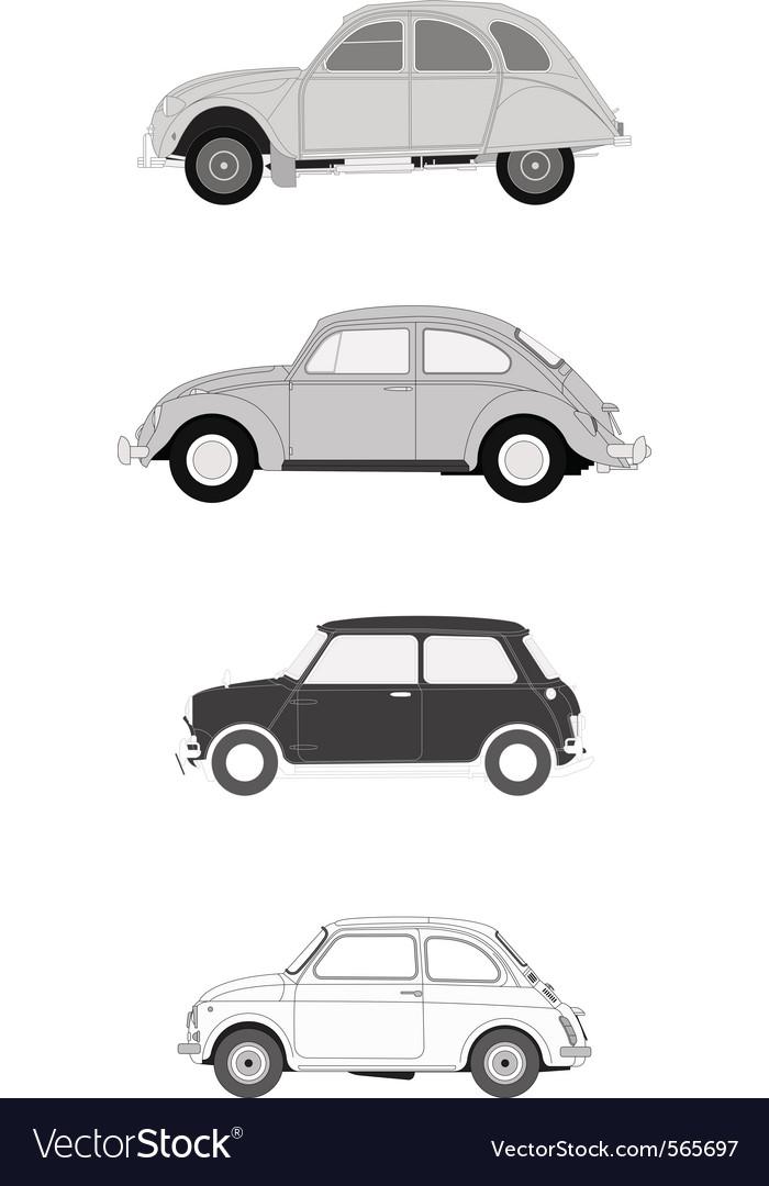 Classics european cars vector image