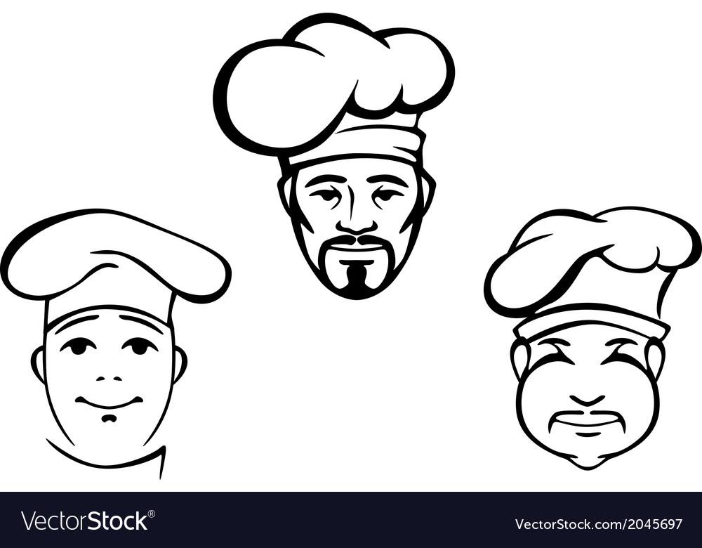 Restaurant chefs vector image