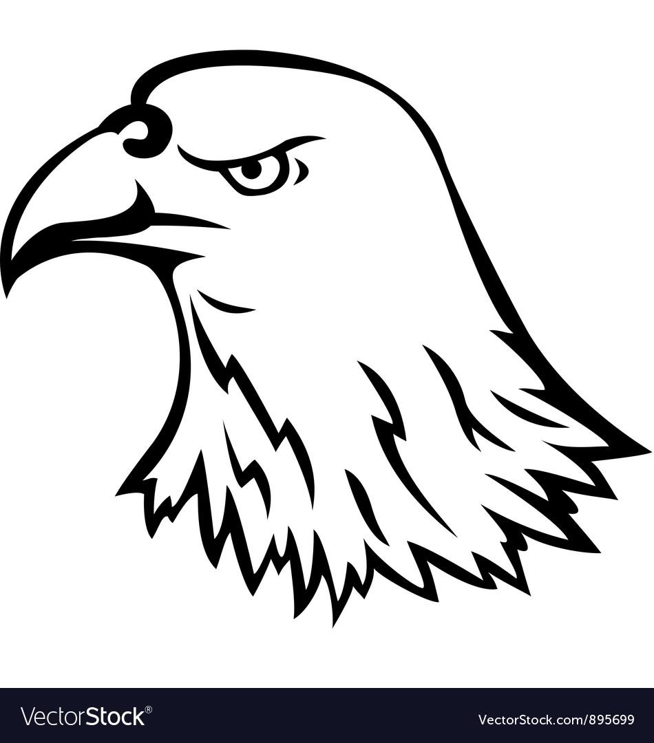 eagle head tattoo royalty free vector image vectorstock. Black Bedroom Furniture Sets. Home Design Ideas