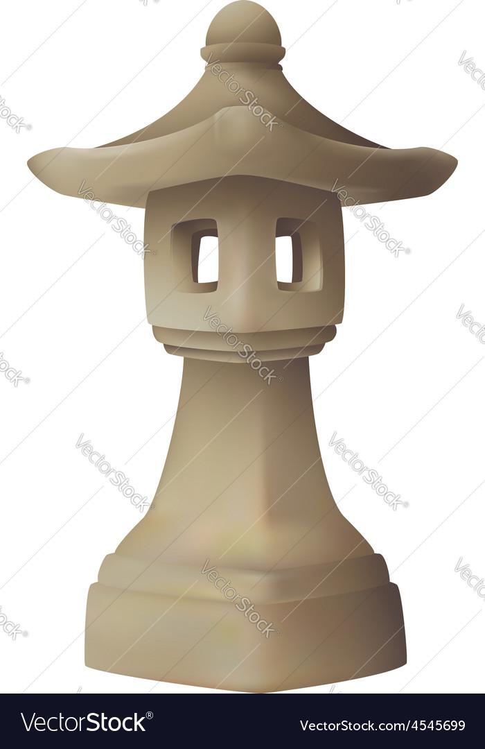 Japanese Garden Lantern Lamp Vector Image