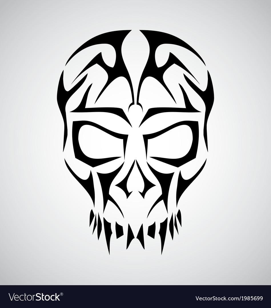Tribal Skull Face vector image