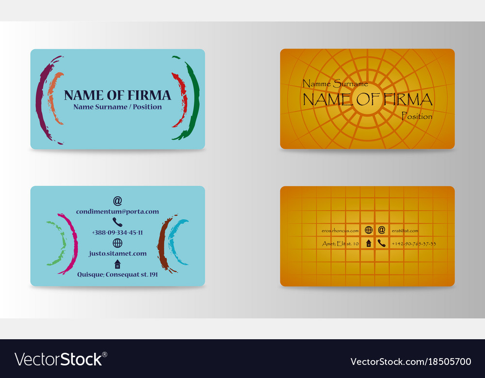 Eps10 abstract elegant business cards templates vector image cheaphphosting Images