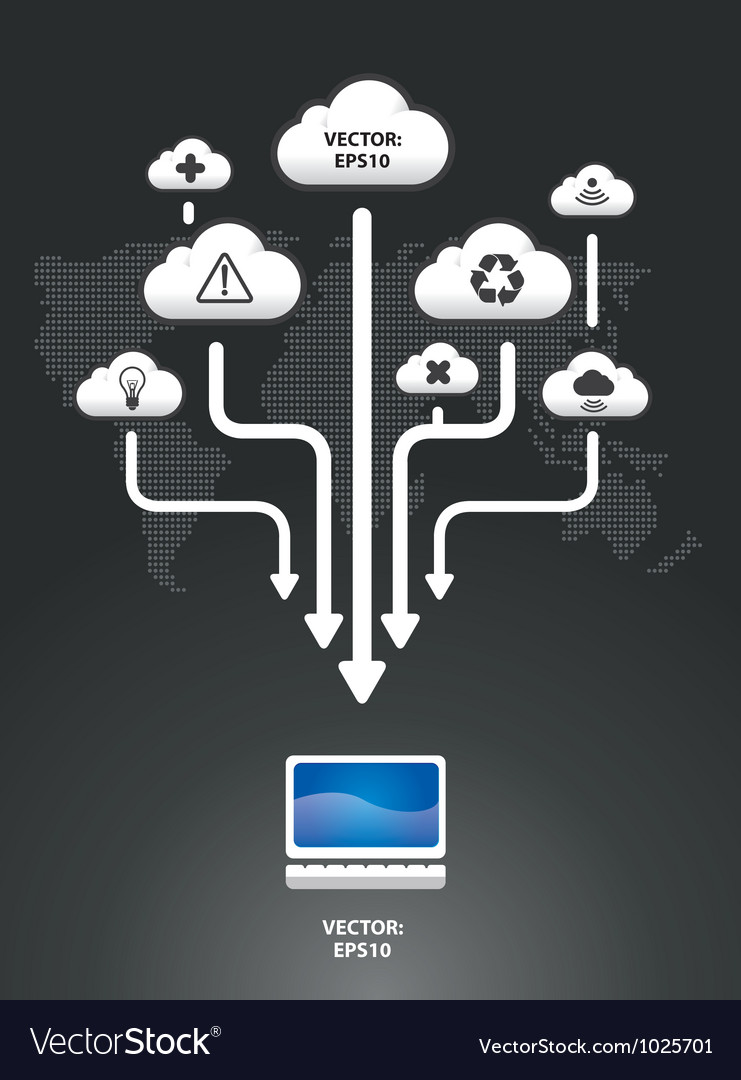 Cloud infographic graph vector image