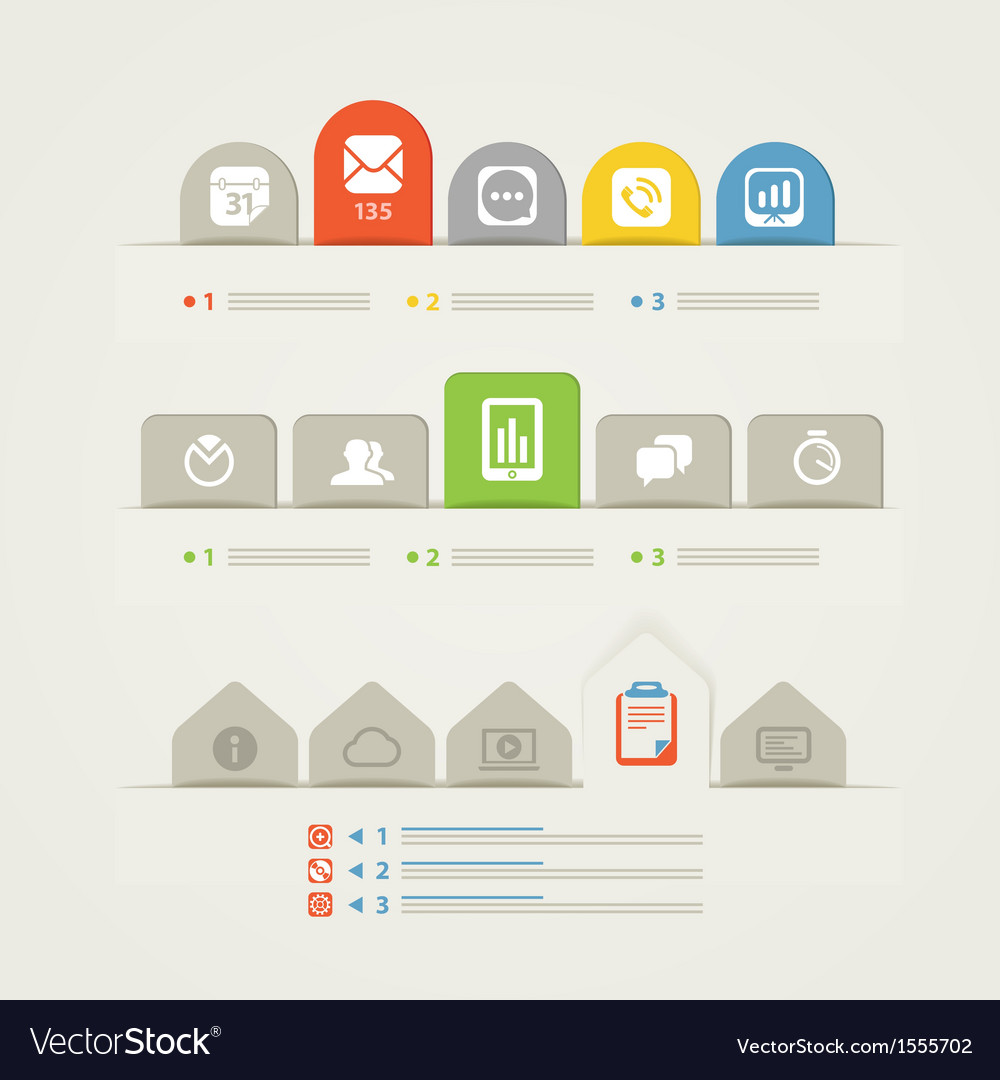 Abstract web page menu template vector image