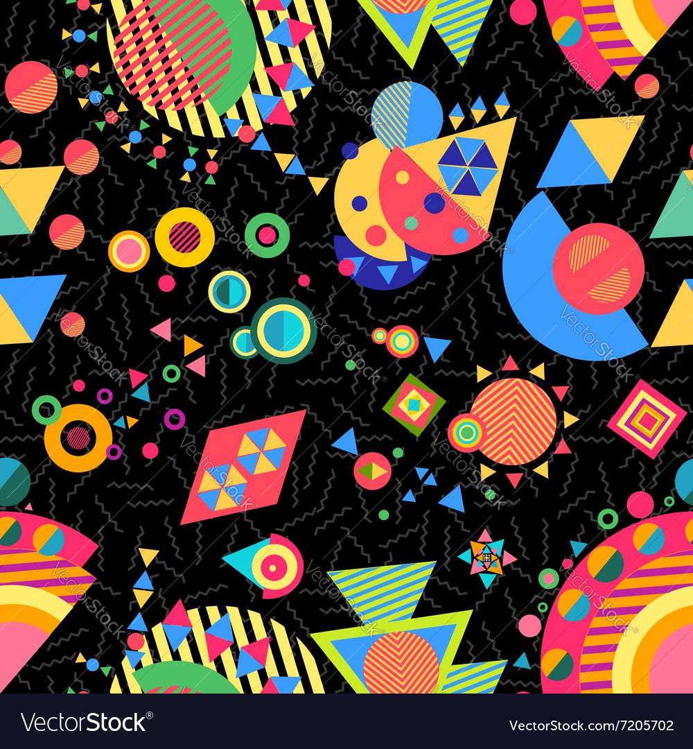 Seamless pattern geometry background colorful vector image