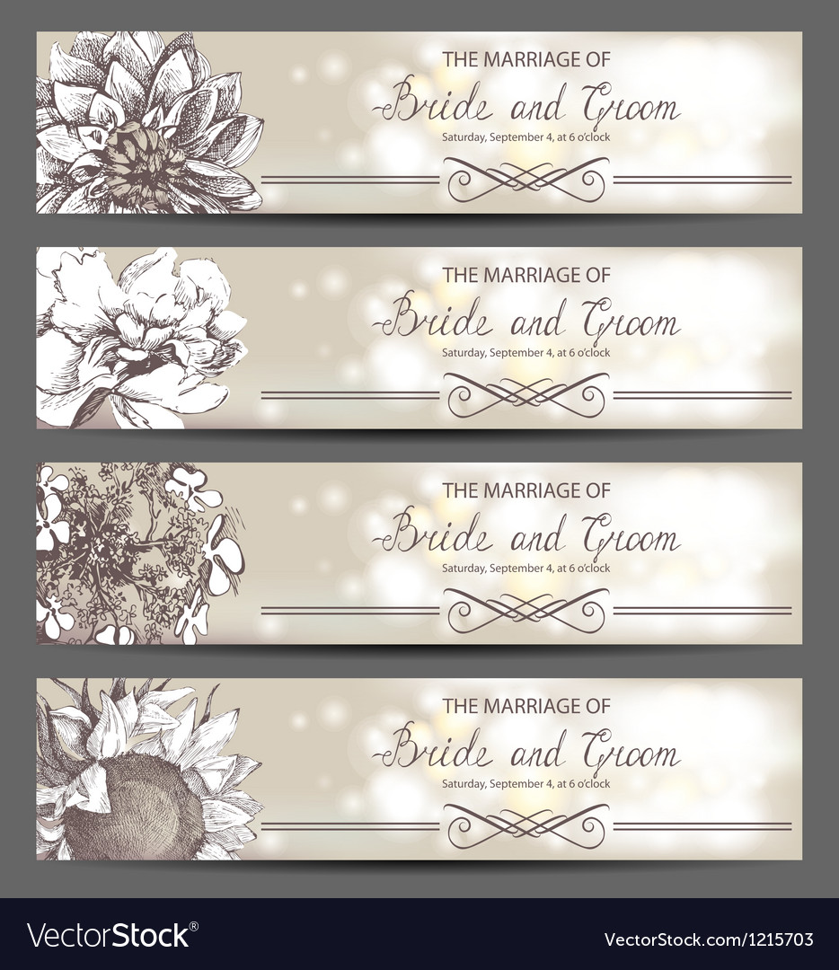 Wedding invitations vector image