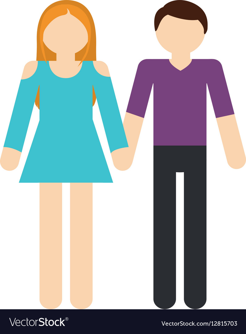 Couple romantic love relationship vector image