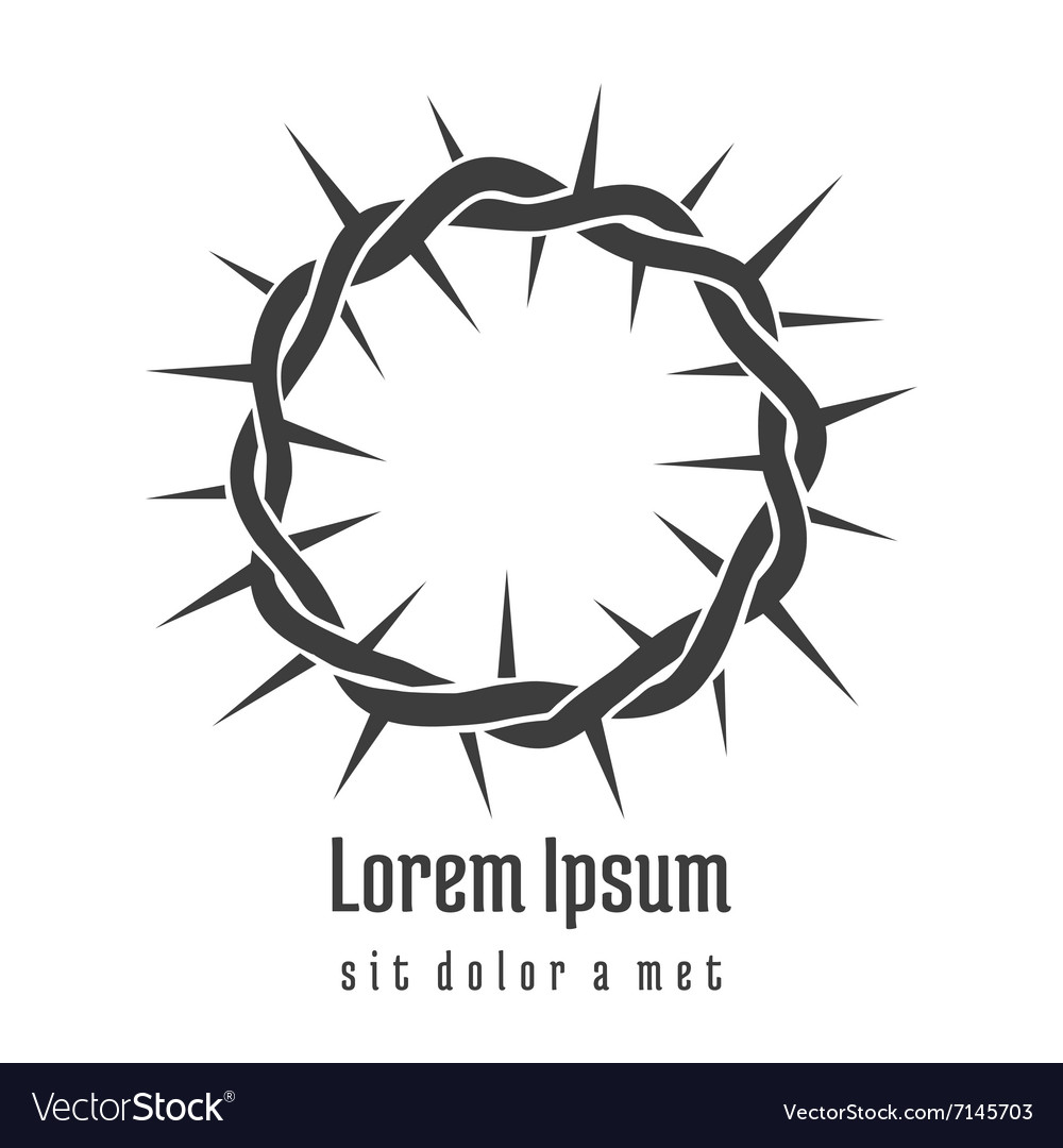 Jesus Crown of Thorns Logo vector image