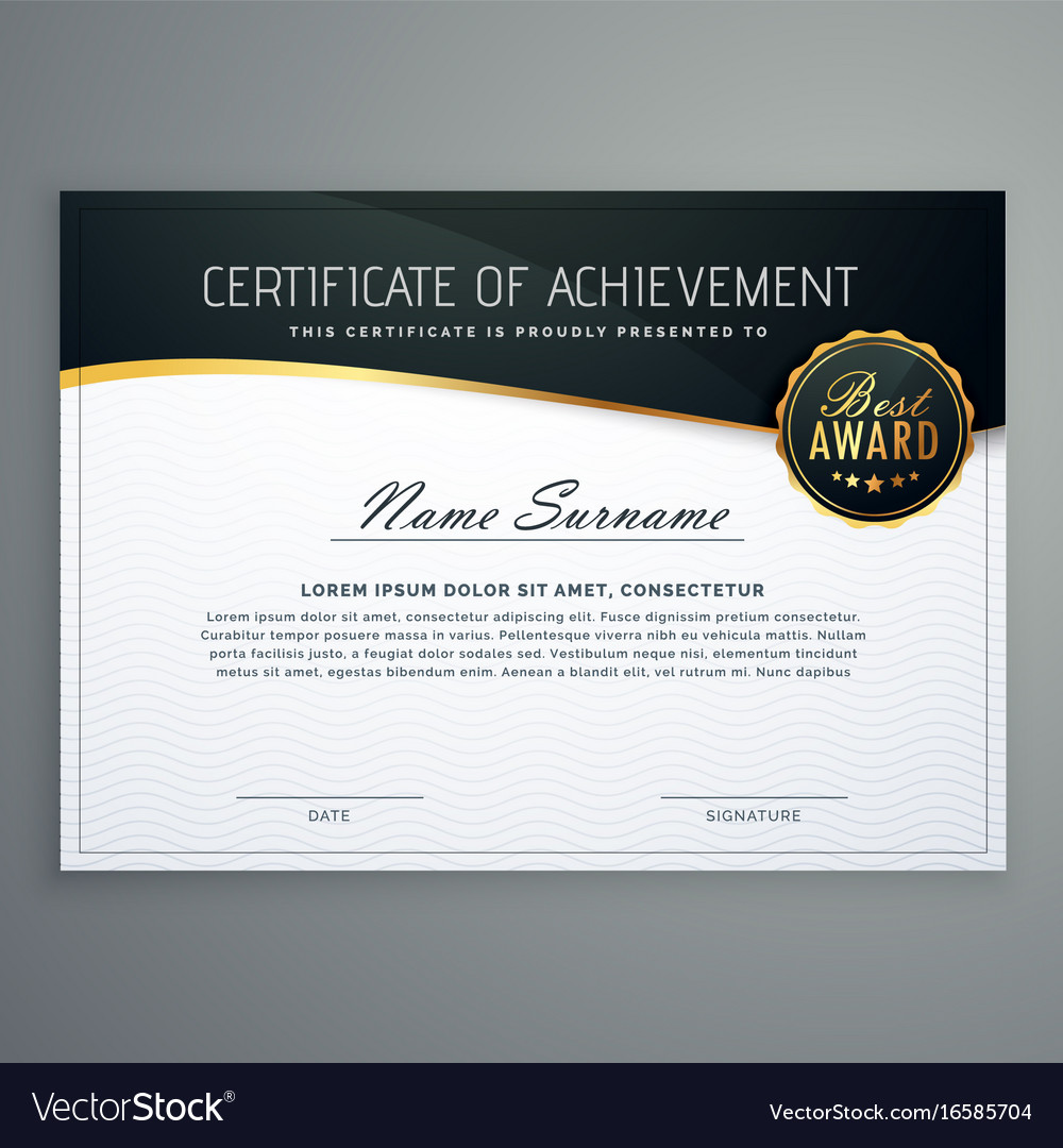 Certificate design with luxury style pattern vector image yelopaper Images