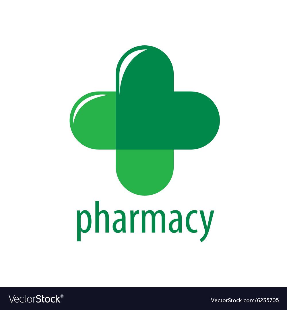 abstract logo green cross pharmacy royalty free vector image