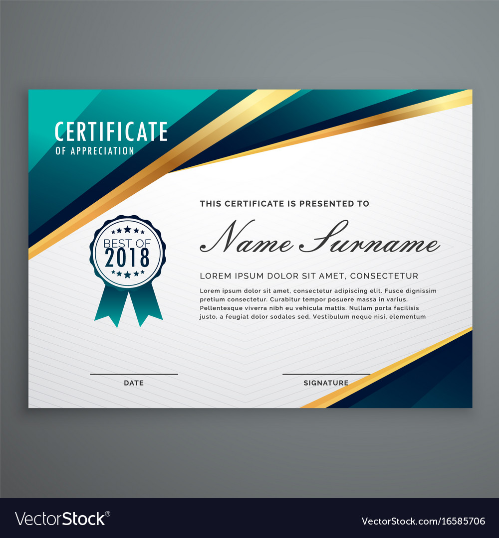 Certificate design with luxury golden shapes vector image yadclub Choice Image