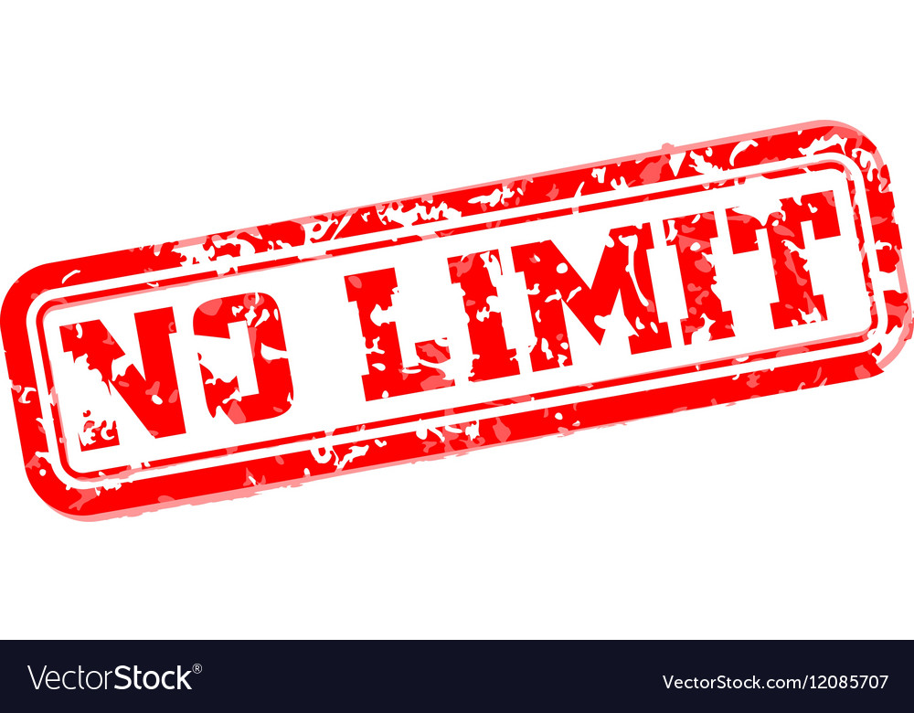 No limit rubber stamp vector image
