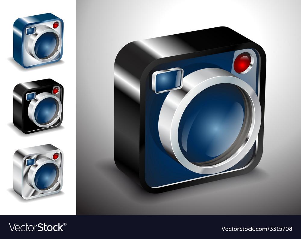 Icon button camera photo lens multimedia vector image
