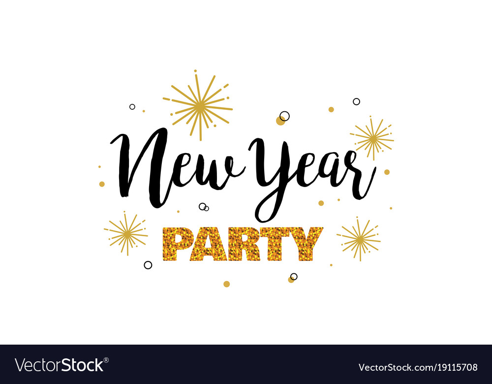 New Year Party Invitation Template Royalty Free Vector Image - Party invitation template: new year party invitation template