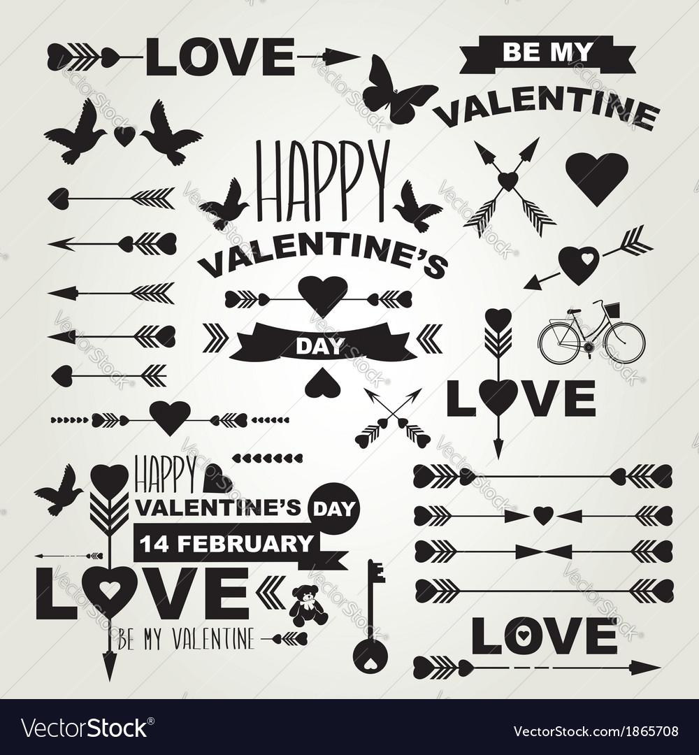 Valentines day set of symbols royalty free vector image valentines day set of symbols vector image buycottarizona