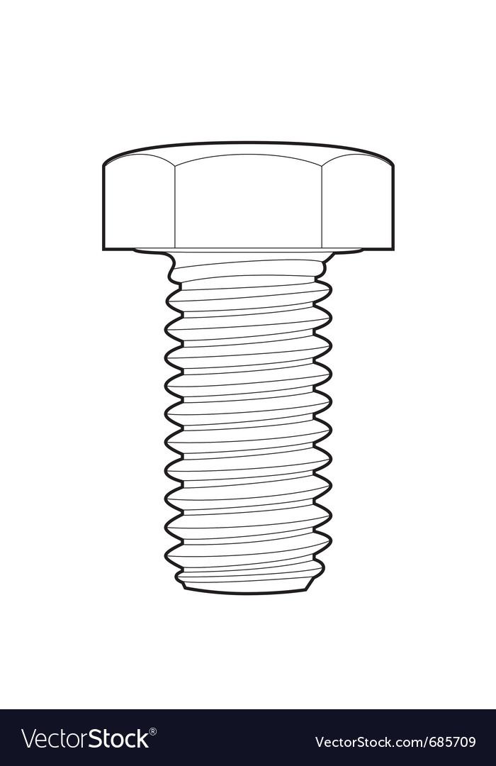 Outline bolt vector image