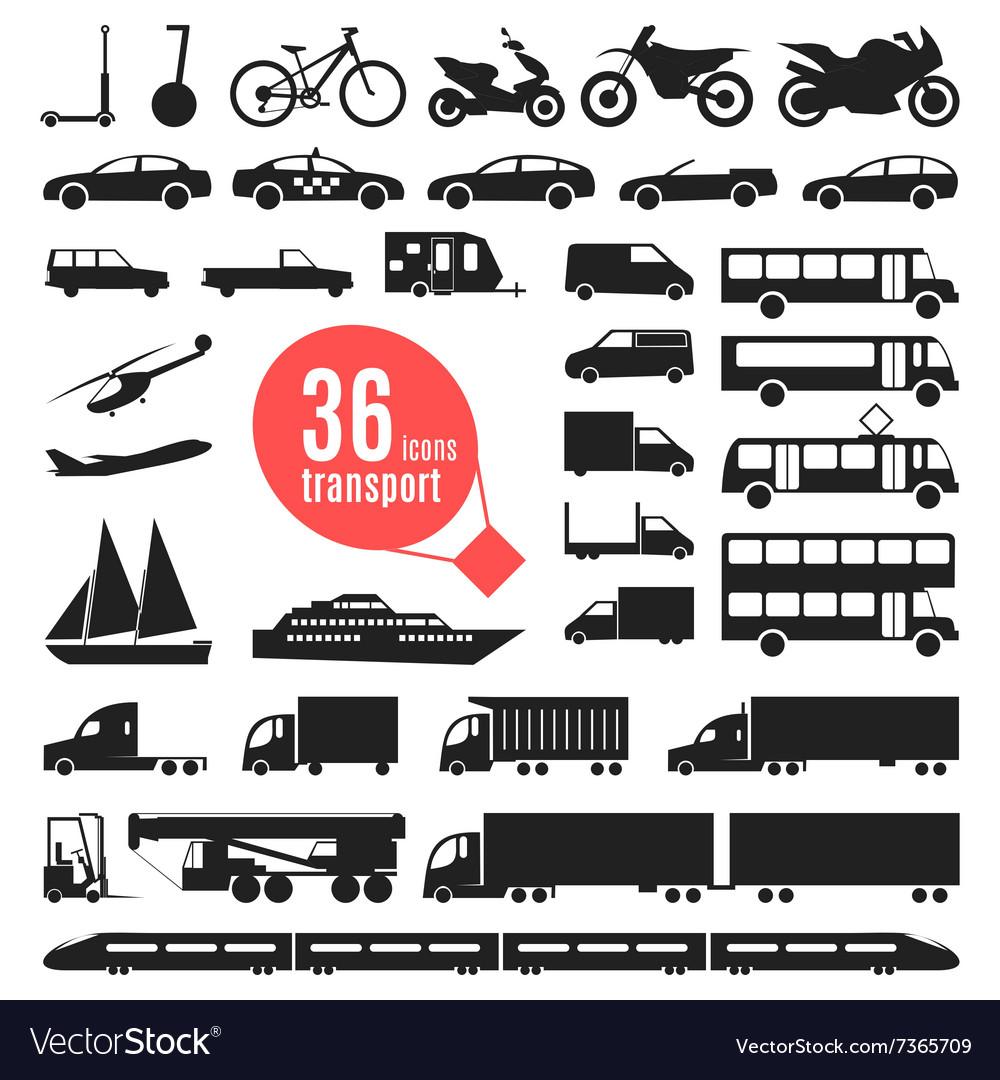 Transportation items City vector image