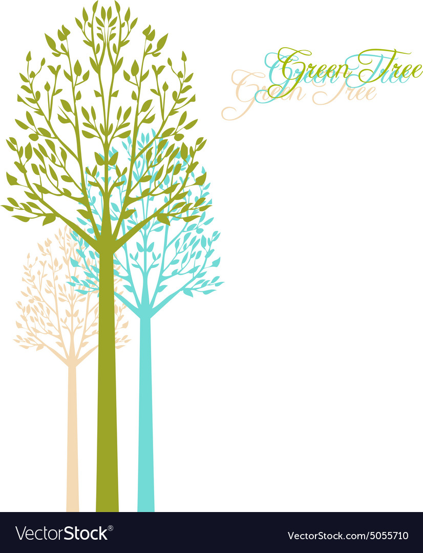 Background with spring trees vector image