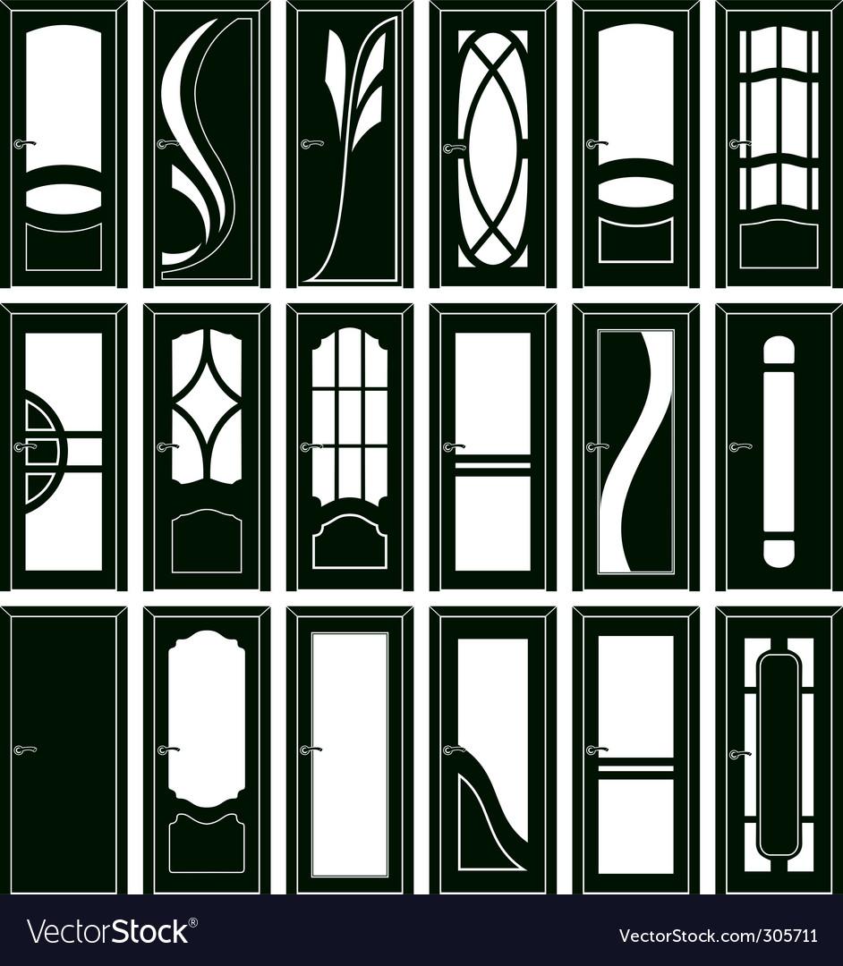 Door forms Vector Image