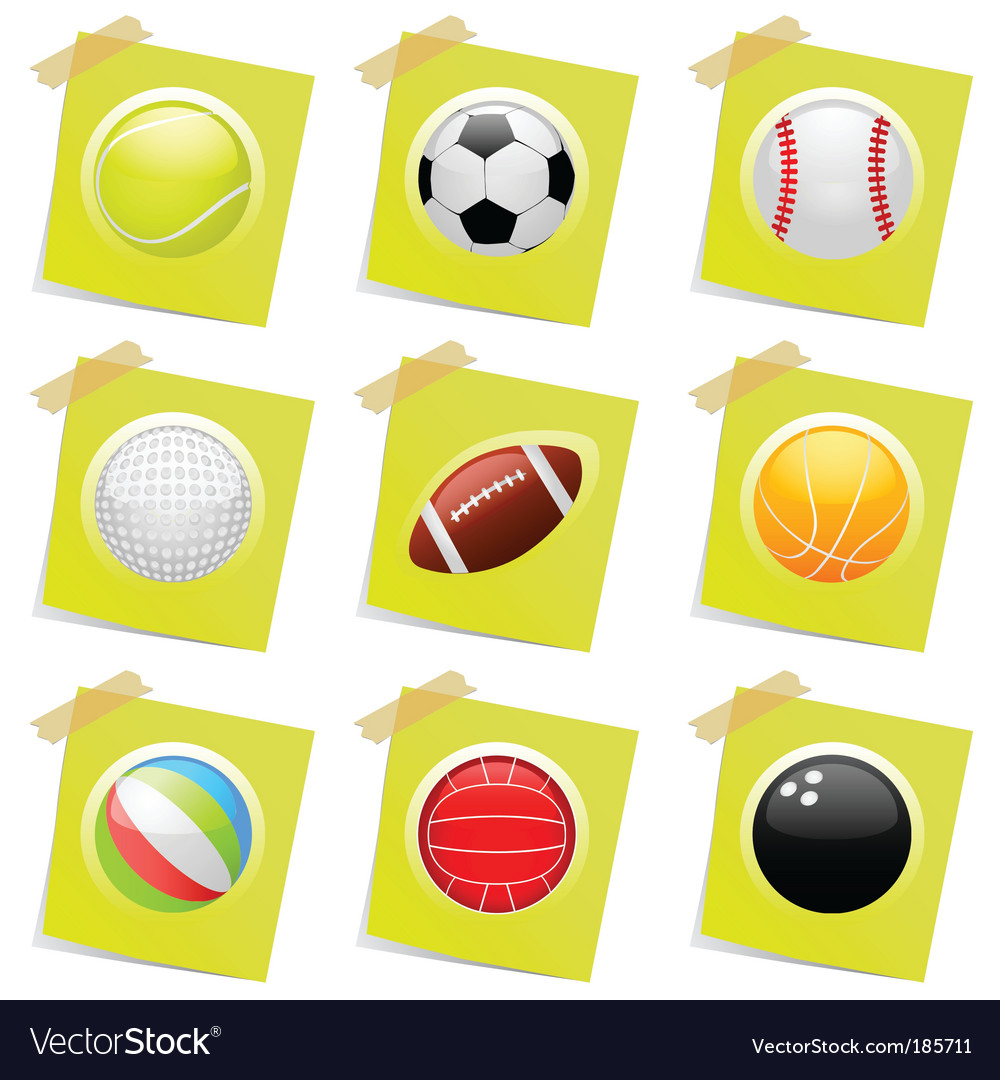 Sports ball vector image