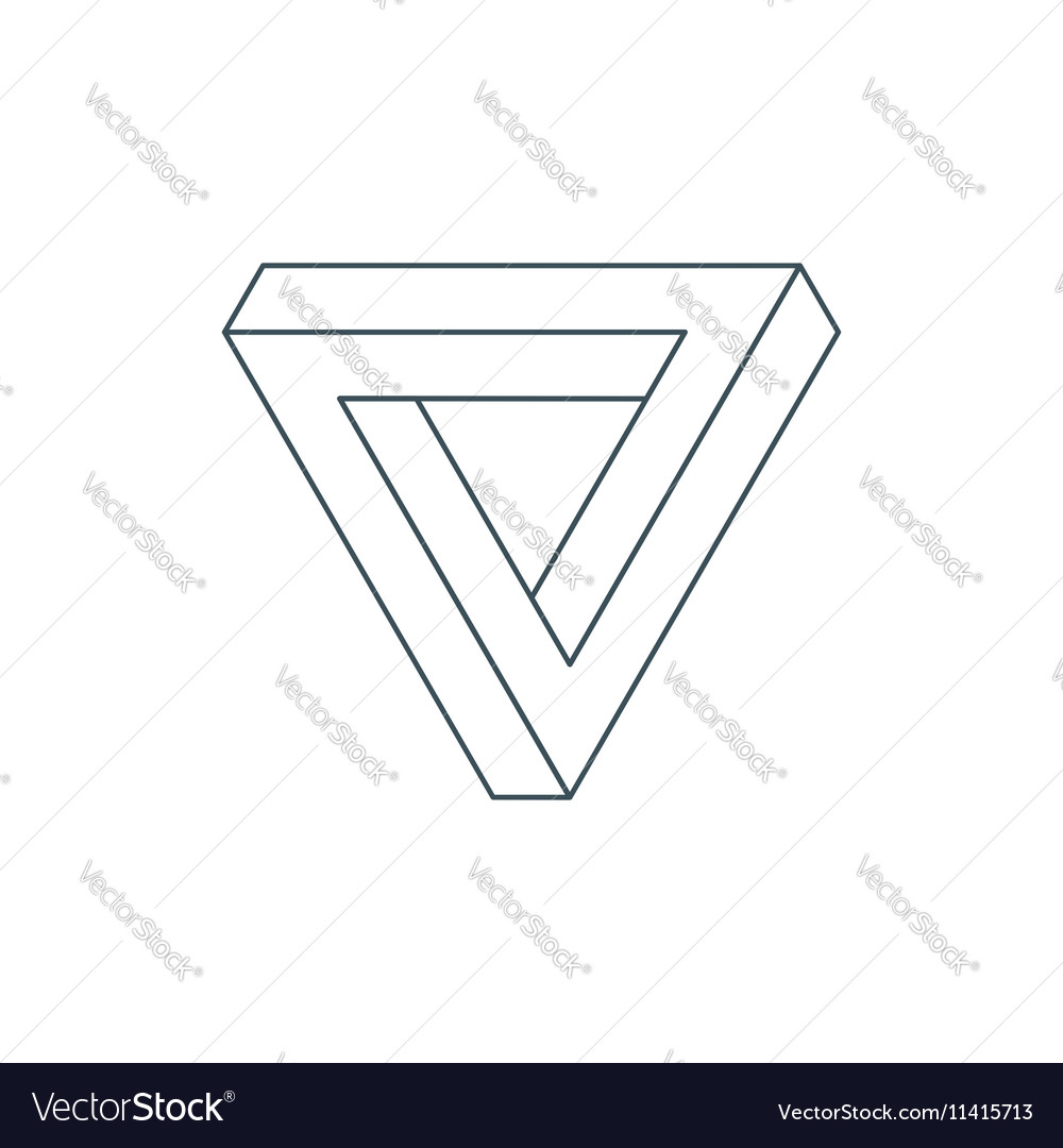 Penrose triangle royalty free vector image vectorstock penrose triangle vector image pooptronica