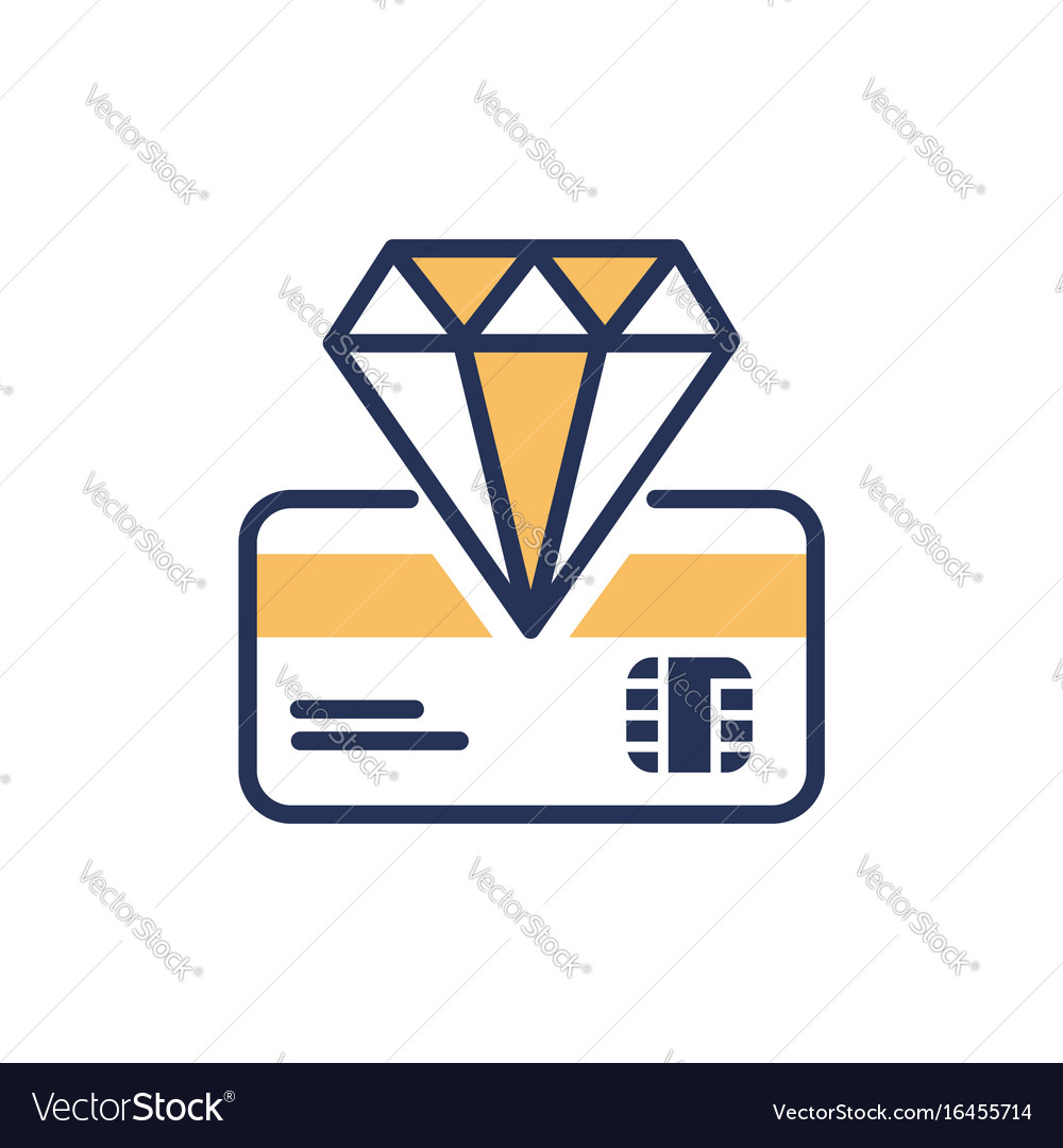 Premium card - modern line design icon vector image