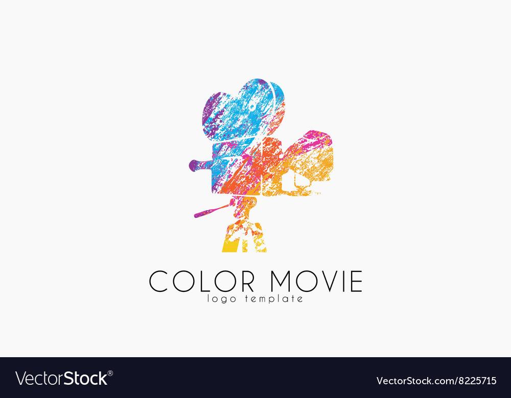 Film camera logo Movie camera Creative logo vector image
