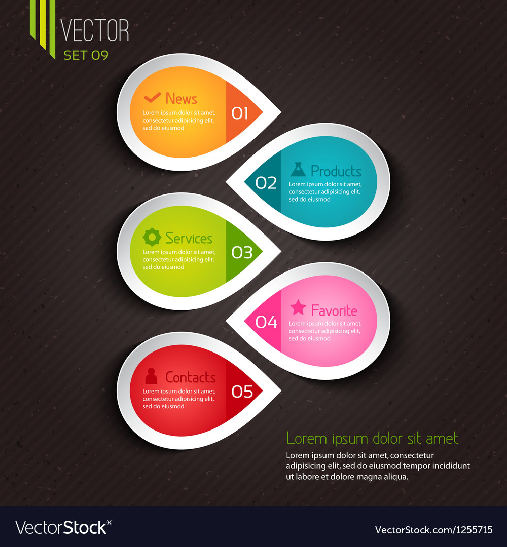 Infographic design for businesses vector image