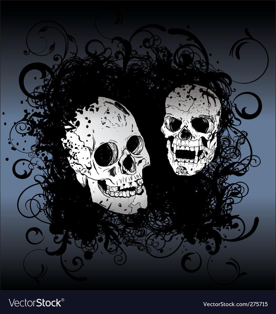 Skull tattoo background vector image