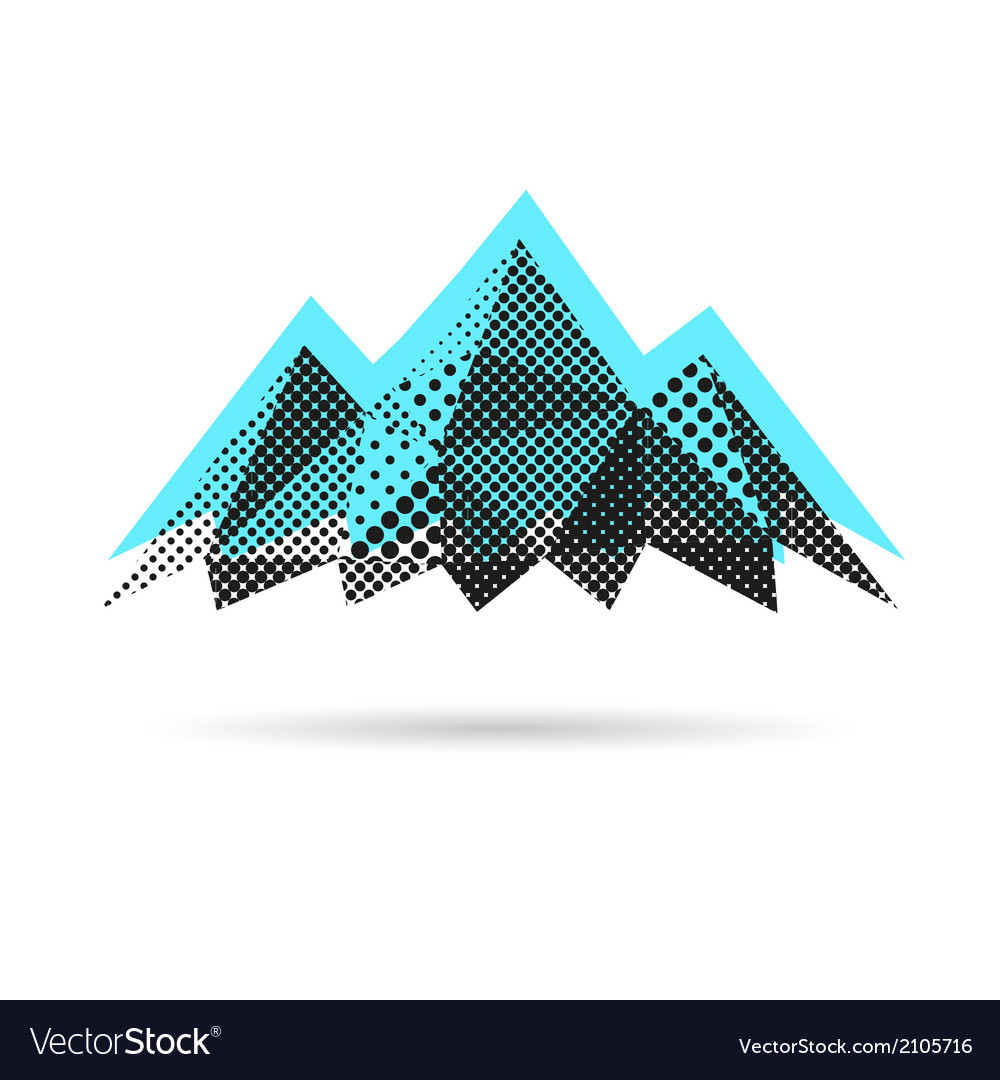 Mountain abstract isolated vector image