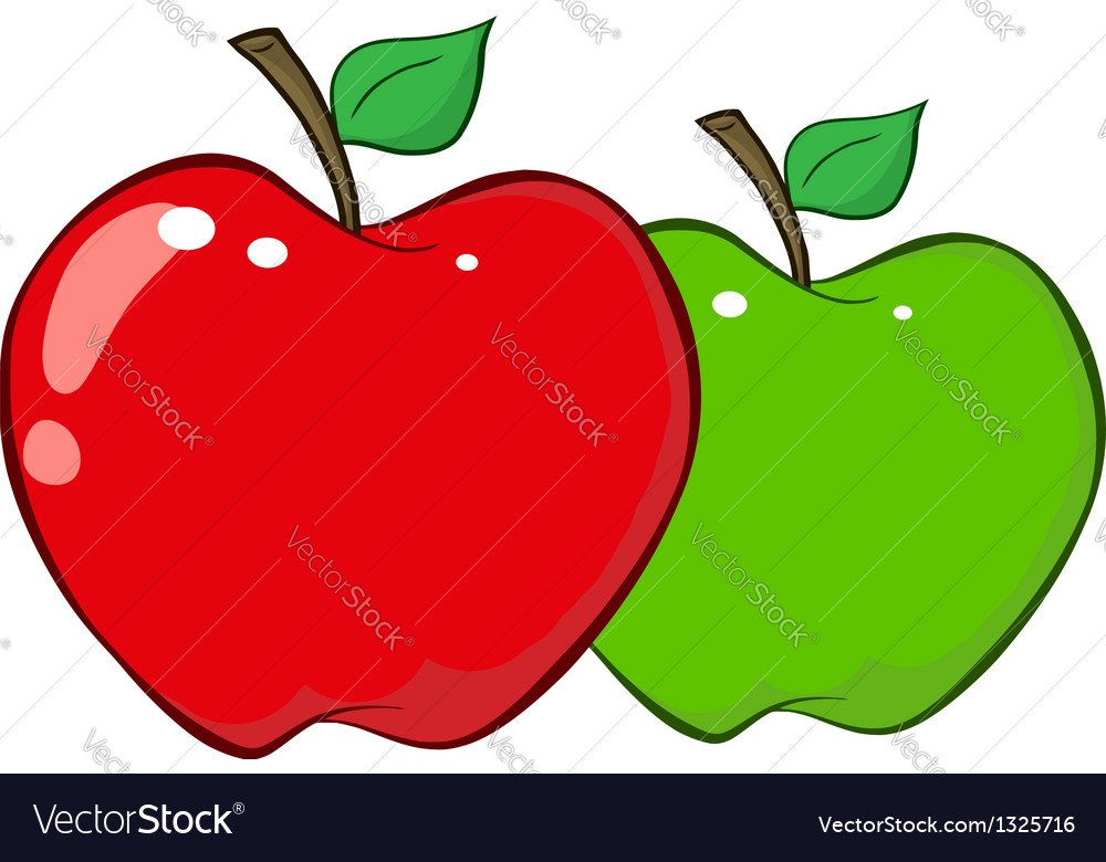 Red And Green Apples vector image