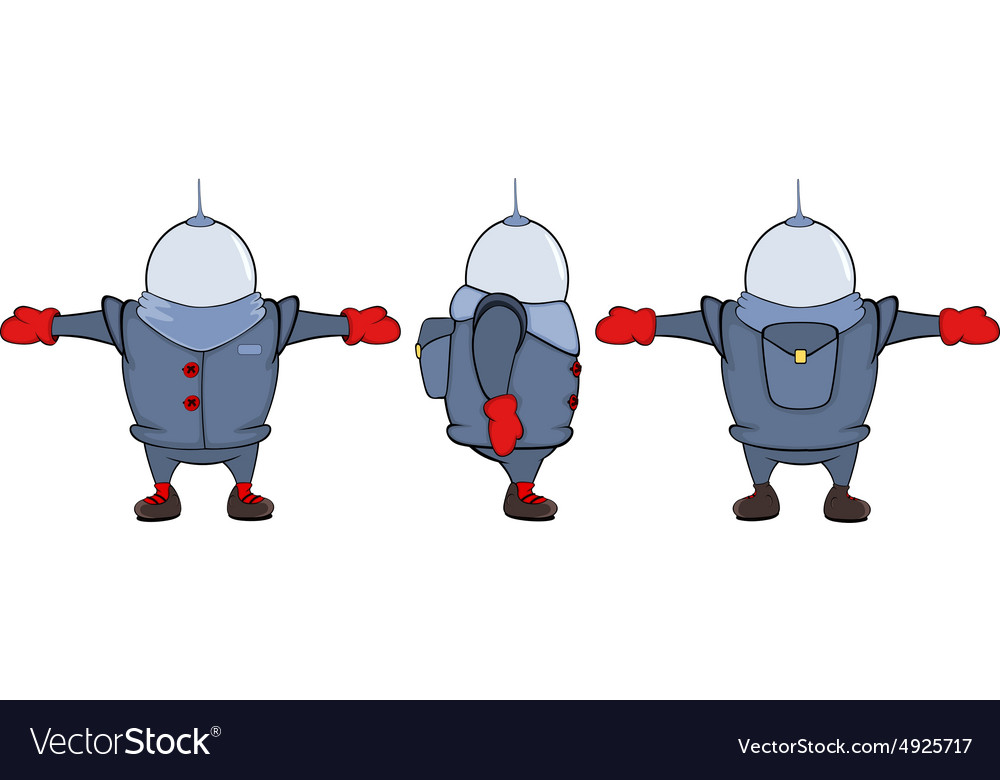 Video game character astronaut sheet cartoon vector image