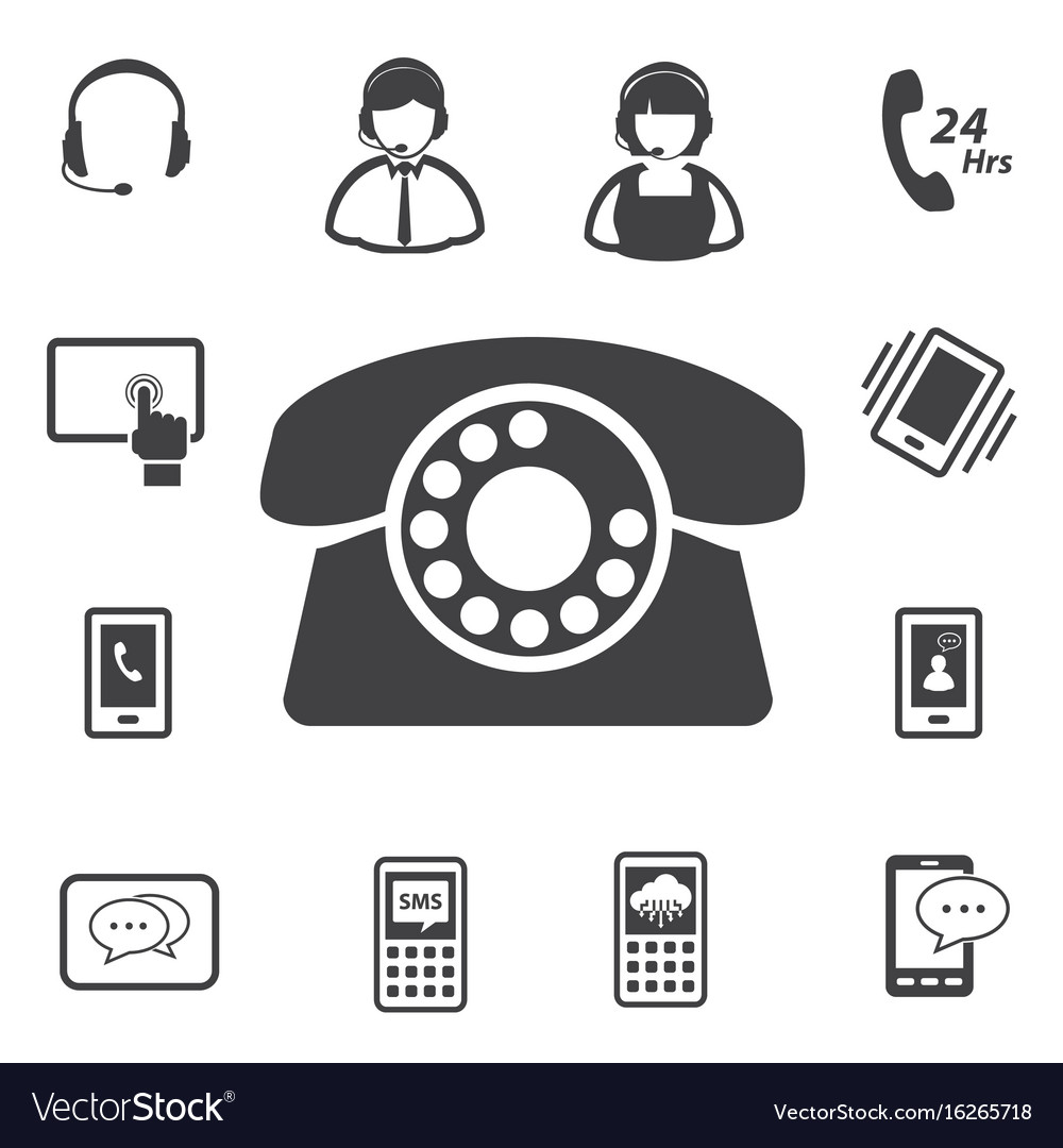Call center and customer service icon set vector image