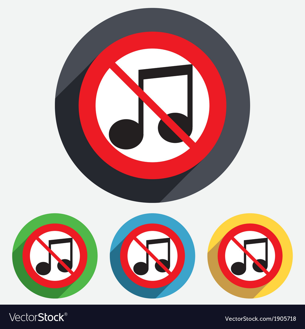 Note music symbol gallery symbol and sign ideas no music note sign icon musical symbol royalty free vector no music note sign icon musical buycottarizona Gallery