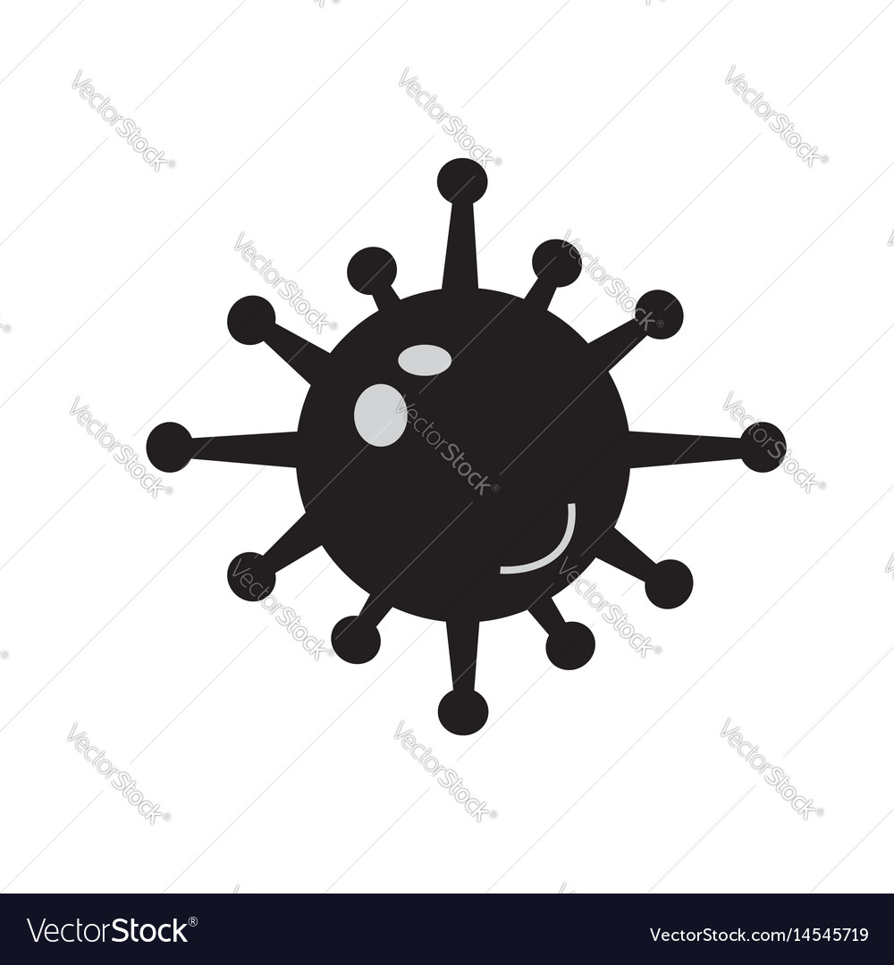 Bacteria icon on white background bacteria sign vector image