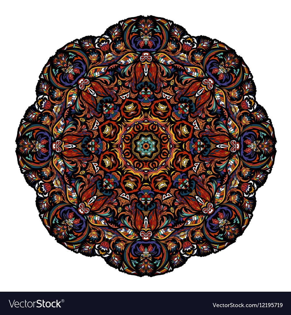 Most mandala consisting of complex elements Drawn vector image
