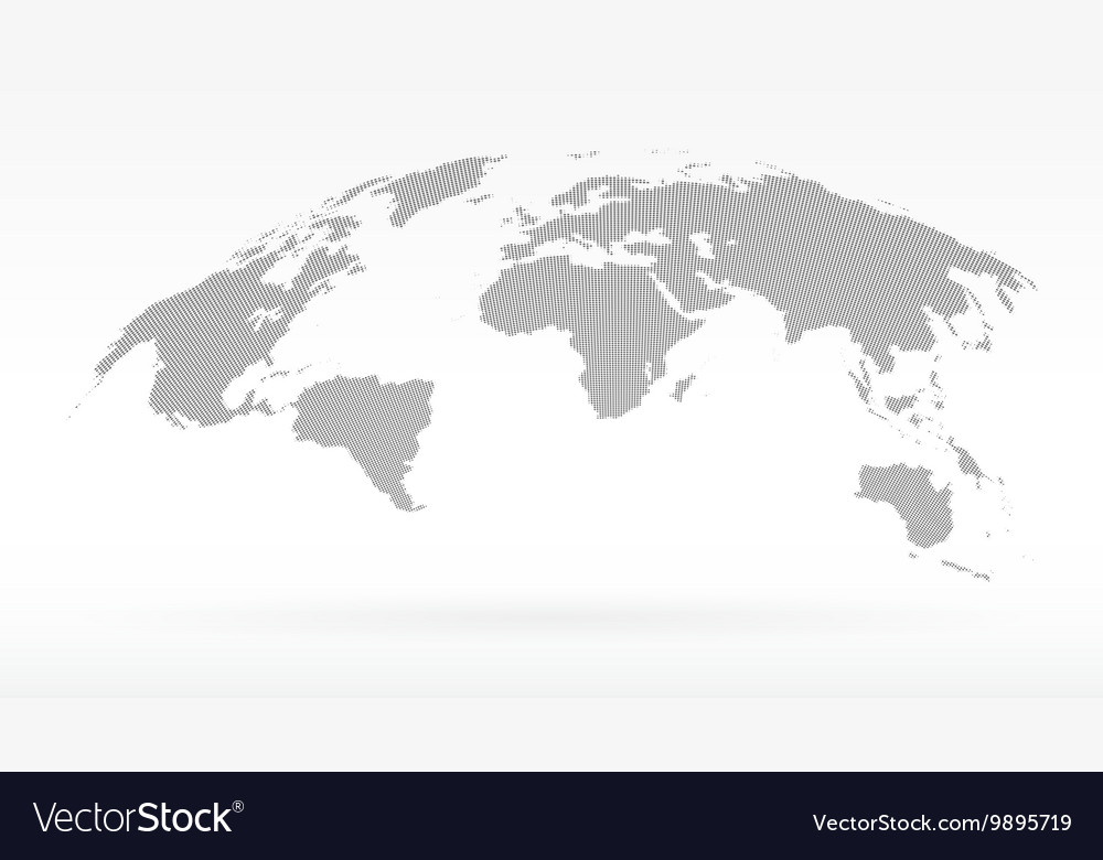 Simple black dots world map concept of royalty free vector simple black dots world map concept of vector image gumiabroncs Images