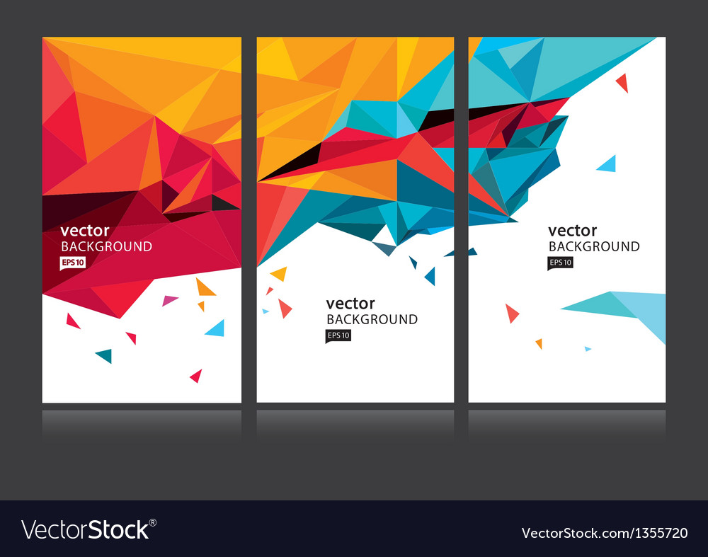 Abstract background set EPS 10 vector image